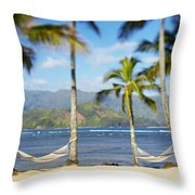 Hanalei Bay, Hammock Throw Pillow