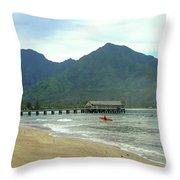 Hanalei Bay II Throw Pillow