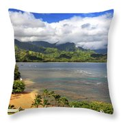 Hanalei Bay Throw Pillow