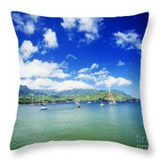 Hanalei Bay With Pier Throw Pillow