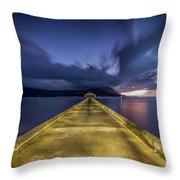 Hanalei Blue Throw Pillow