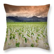 Hanalei Taro Throw Pillow