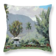 Hanalei Tower Throw Pillow
