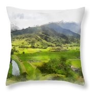 Hanalei Valley Throw Pillow