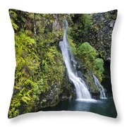 Hanawai Waterfall Throw Pillow