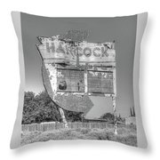 Hancock Gas Sign Throw Pillow