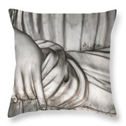 Hand And Robe Throw Pillow