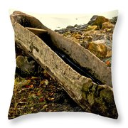 Hand Carved Canoe Throw Pillow