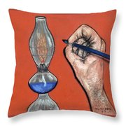 Hand Drawing Lamp Throw Pillow