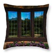 Hand Hewn Oak Frames Throw Pillow