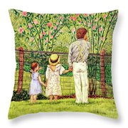 Hand In Hand Throw Pillow by Linda Simon