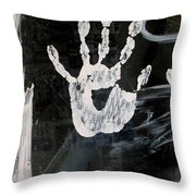 Hand In Window Picacho Arizona 2004 Throw Pillow
