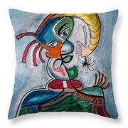 Hand Me A Flower Throw Pillow