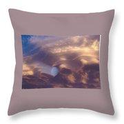 Hand Of God In Colorado Sky  Throw Pillow