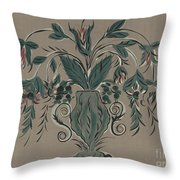 Hand Painted Wall Throw Pillow