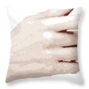 Hand - Parallel Hatching Throw Pillow