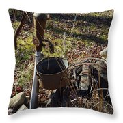 Hand Pump In The Fall Throw Pillow