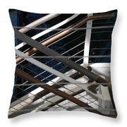 Hand Rails Throw Pillow