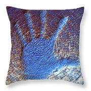 Hand That Giveth Throw Pillow