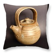 Hand Thrown Teapot Throw Pillow