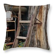 Hand Truck Of The Past Throw Pillow