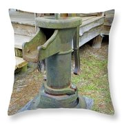 Hand Water Pump Throw Pillow