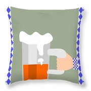Hand With Beer Throw Pillow