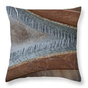 Hand Woolcarder Throw Pillow by Wilma  Birdwell