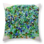 Handful Of Sea Glass Throw Pillow