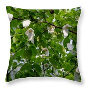 Handkerchief Tree Throw Pillow