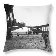 Handley Page Biplanes Throw Pillow
