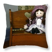 Handmade Cloth Doll Throw Pillow