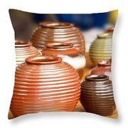 Handmade Pottery Throw Pillow