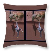 Handout - Gently Cross Your Eyes And Focus On The Middle Image Throw Pillow
