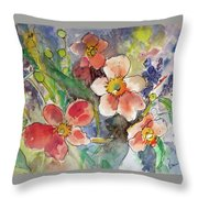 Handpicked Bouquet No. 2 Throw Pillow