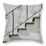 Handrail And Steps 1 Throw Pillow