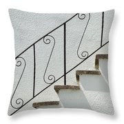 Handrail And Steps 2 Throw Pillow