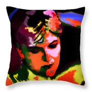 Hands Behind Your Head Throw Pillow