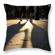 Hands In Sunset Throw Pillow