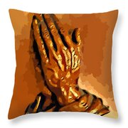 Hands Of God  Throw Pillow