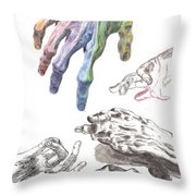 Hands Of The Masters Throw Pillow