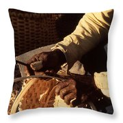 Hands Of Time Throw Pillow by Harvie Brown
