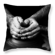Hands That Form Throw Pillow