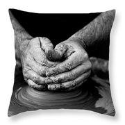 Hands That Shape Throw Pillow