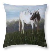 Handsome Longhorn Throw Pillow