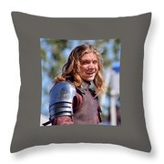 Handsome Knight Throw Pillow