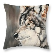 Handsome Wolf Throw Pillow