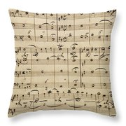 Handwritten Score Throw Pillow