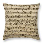Handwritten Score For Mass In B Minor Throw Pillow