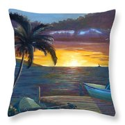 Hang Loose Harbor Throw Pillow
